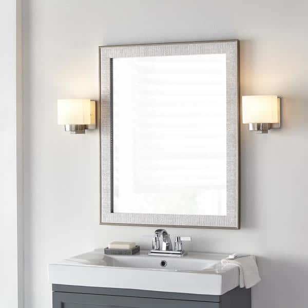 Home Decorators Collection 25 In W X, Home Depot Bathroom Mirror With Lights