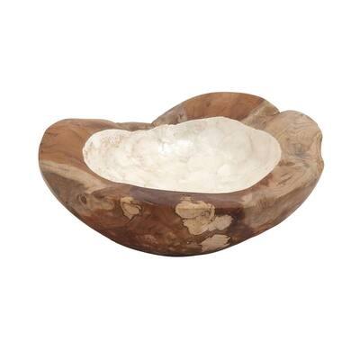 Natural Brown Wood Natural Nature Decorative Bowl
