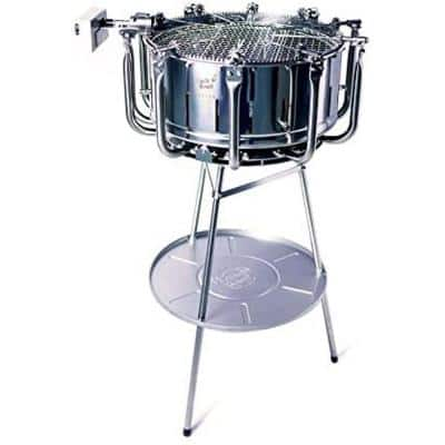 Uncle Roast Automatic Rotisserie BBQ Charcoal Grill in Stainless Steel