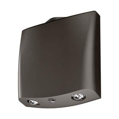SELW Wet Location Integrated LED Bronze Emergency Light with 25 ft. of Egress