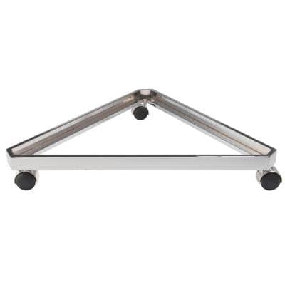 24 in. Chrome Grid Panel Triangle Base