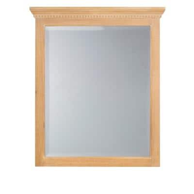 Medium Rectangle Natural Beveled Glass Classic Mirror (34 in. H x 31.75 in. W)