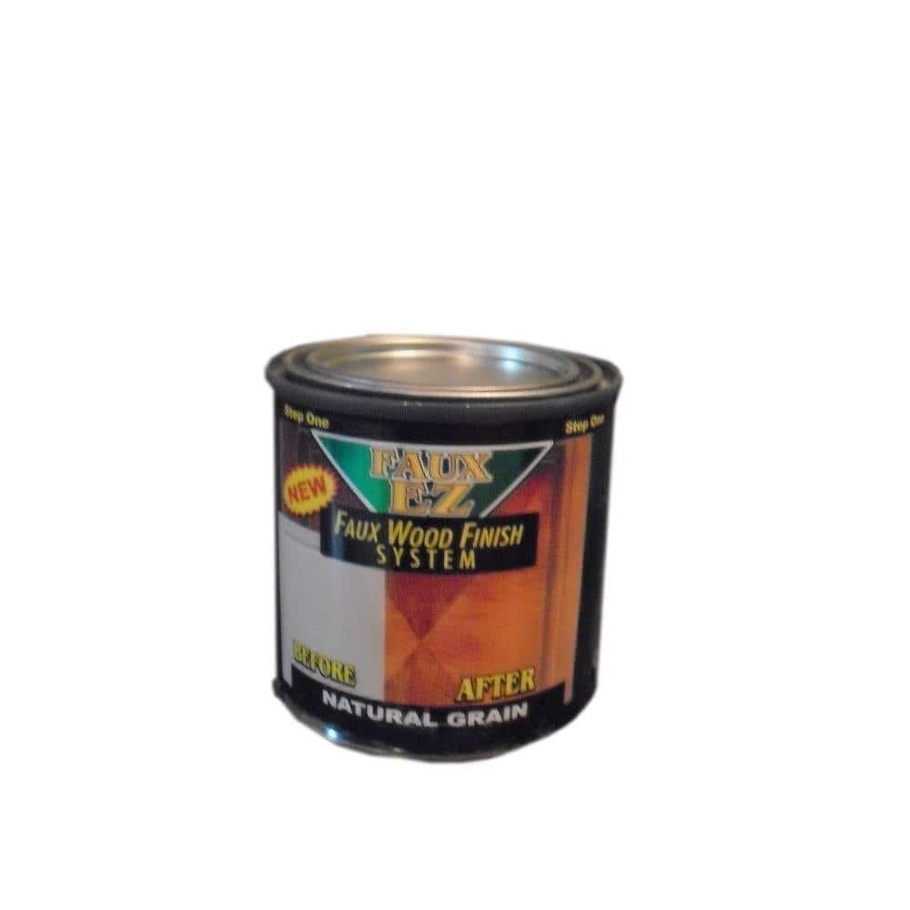 Faux EZ Natural Wood Grain Cabinet Paint 8 oz. Natural Grain Faux Wood Cabinet Refinishing Step One Base Coat