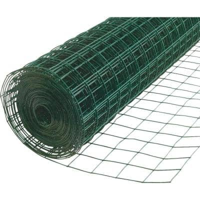 3.25 ft. x 50 ft. Green PVC Coated Welded Wire
