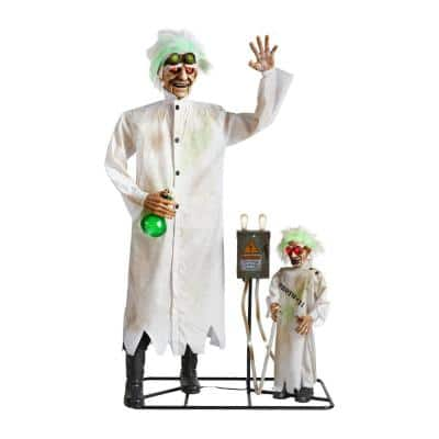 76 in. Animated Standing Halloween Scientist and Mini Scene