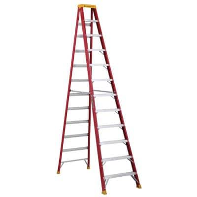 12 ft. Fiberglass Step Ladder with 300 lbs. Load Capacity Type IA Duty Rating