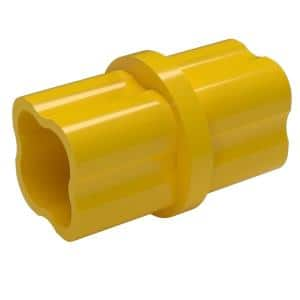1/2 in. Furniture Grade PVC Sch. 40 Internal Coupling in Yellow (10-Pack)