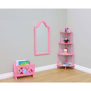 Freestanding Magazine Rack in Pink