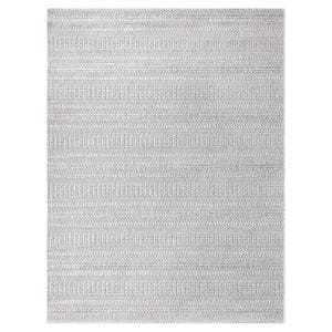 Natural Ash Grey 8 ft. x 10 ft. Striped Indoor/Outdoor Area Rug