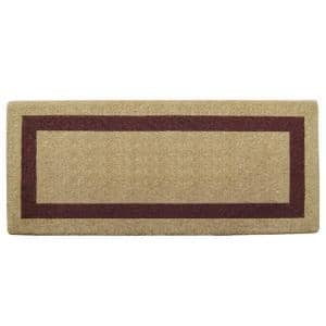 Single Picture Frame Brown 24 in. x 57 in. Heavy Duty Coir Plain Door Mat