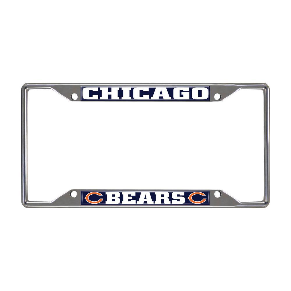 NFL - Chicago Bears Chromed Stainless Steel License Plate Frame