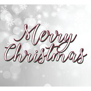 7 ft. x 8 ft. Merry Christmas Tree-Christmas Garage Door Decor Mural for Split Car Garage