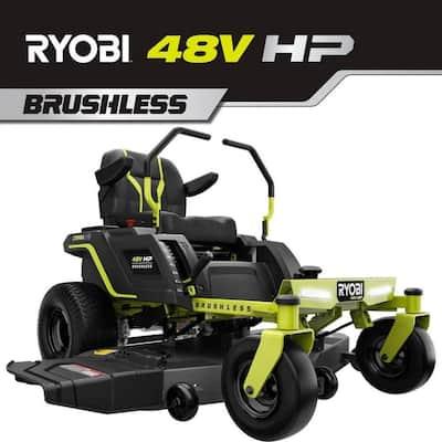 48V HP Brushless 54 in. 115 Ah Battery Electric Riding Zero Turn Mower