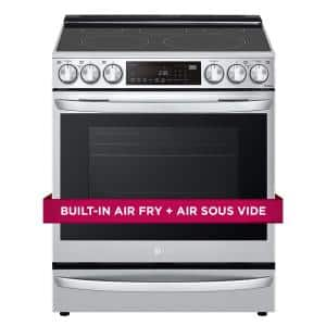 6.3 cu. ft. Smart Slide-In Electric Range with ProBake Convection & Air Sous Vide in PrintProof Stainless Steel