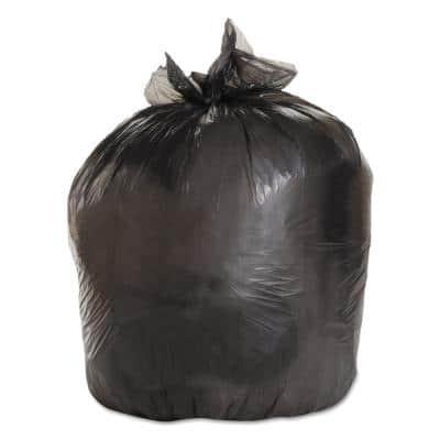 38 in. x 58 in. 60 Gal. 0.95 mil Gray Low-Density Trash Can Liners (25-Bags/Roll, 4-Rolls/Carton)