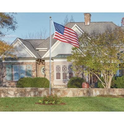 Classic 17 ft. Sectional Flagpole Kit with Rope