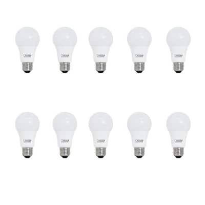60-Watt Equivalent A19 LED Light Bulb Bright White (3000K) (10-Pack)