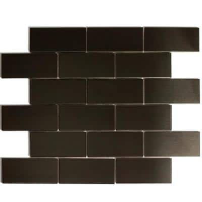Enchanted Metals Bronze Mosaic 2 in. x 4 in. Stainless Steel Wall Tile (14 Sq. ft./Case)
