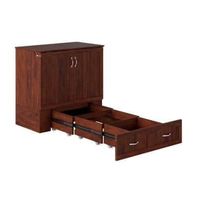 Southampton Walnut Murphy Bed Chest Twin XL with Charging Station