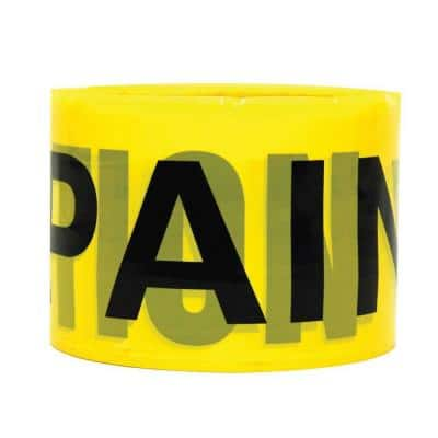 3 in. x 100 yds. Yellow Plastic Banner Tape
