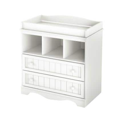 Savannah 2-Drawer Pure White Changing Table