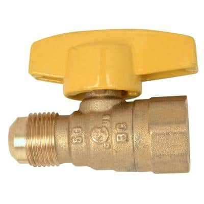 1/2 in. OD Flare x 1/2 in. FIP Gas Ball Valve