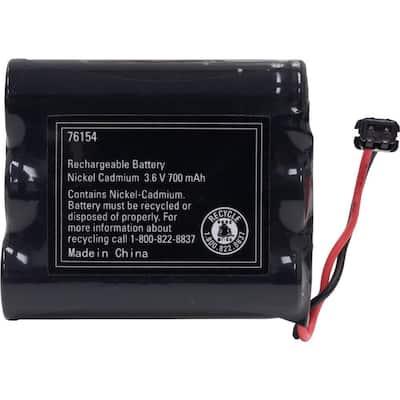 Rechargeable Cordless Phone Battery, 3.6V, 700mAh, NiMH