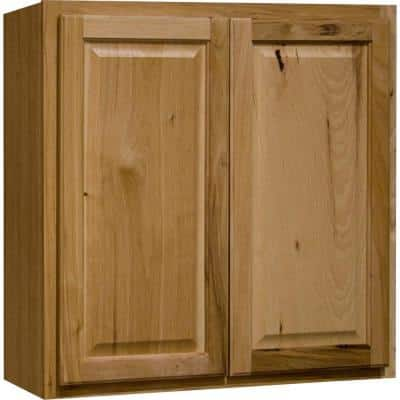 Hampton Natural Hickory Raised Panel Stock Assembled Wall Kitchen Cabinet (30 in. x 30 in. x 12 in.)
