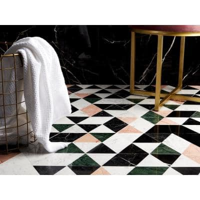 Prisma Pink 13.5 in. x 7.75 in. Polished Marble Floor and Wall Tile (0.73 sq. ft./Each)
