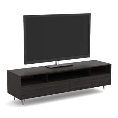Safdie & Co. 15 in. Gray Engineered Wood TV Stand 79 in. with Cable Management