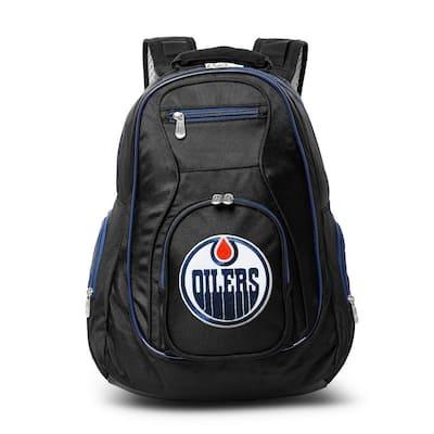 NHL Edmonton Oilers 19 in. Black Trim Color Laptop Backpack