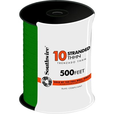 500 ft. 10 Green Stranded CU THHN Wire