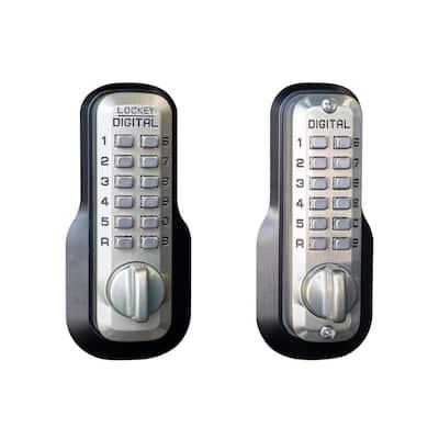 M210 Double Combination Satin Nickel Keyless Single Cylinder Deadbolt Lock