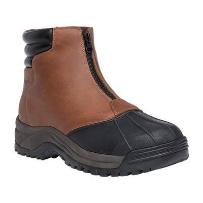 Blizzard Mid Zip Men's Size 11 Medium (D) Brown/Black Leather Waterproof Winter Boot