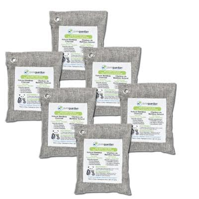 Air Purifying Bamboo Charcoal Bag, 7.1 oz  (6-Pack)