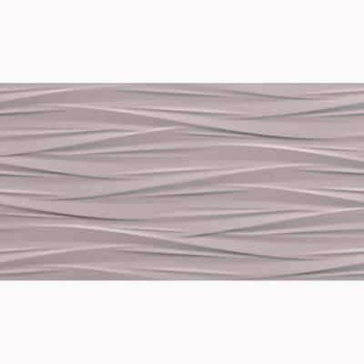 Nuvola Gray 3D 12 in. x 22 in. Ceramic Wall Tile (12.83 sq. ft./case)