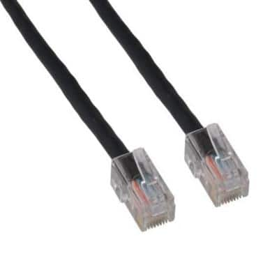 50 ft. Cat5e 350 MHz UTP Assembled Ethernet Network Patch Cable, Black