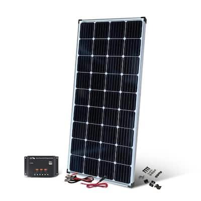 200-Watt Monocrystalline Solar Panel with 12-Volt Charge Controller