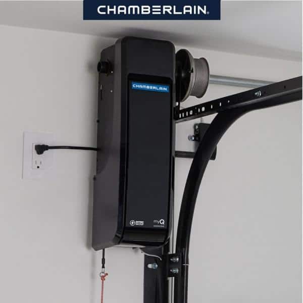 Reviews For Chamberlain Wall Mount Direct Drive Ultra Quiet Garage Door Opener With Battery Backup Rjo70 The Home Depot
