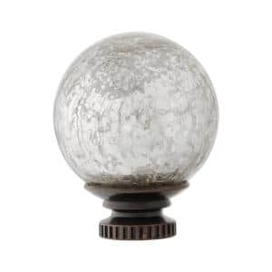 Mix and Match Mercury Glass Sphere 1 in. Curtain Rod Finial in Oil-Rubbed Bronze (2-Pack)