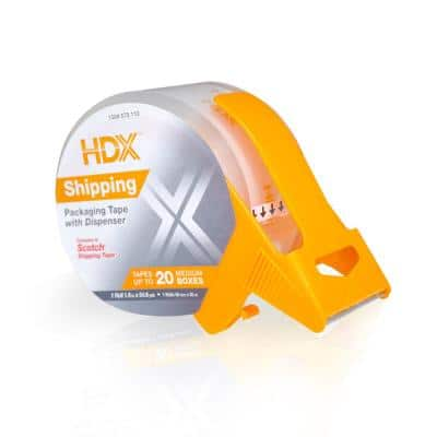 1.88 in. x 54.6 yds. Shipping Packaging Tape with Dispenser Tape Bay