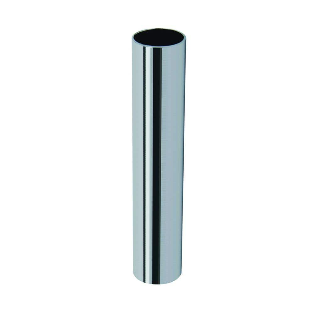 Brasscraft 3 1 2 In L Chrome Plated Brass Cover Tube For 1 2 In Copper Tube 8489 C The Home Depot