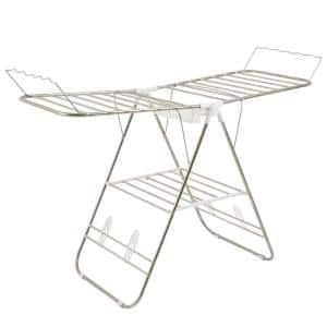 23.3 in. x 42 in. Freestanding Collapsible Stainless Steel Laundry Drying Rack