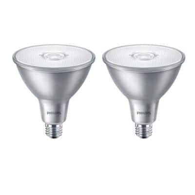 90-Watt Equivalent PAR38 LED Classic Glass Indoor/Outdoor Bright White (2-Pack)