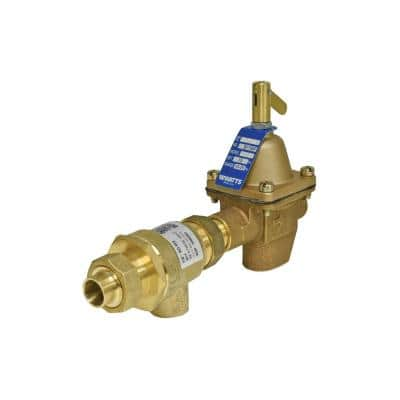 1/2 in. Bronze Combination Fill Valve and Backflow Preventer, Union Solder Inlet x Threaded Outlet Connections