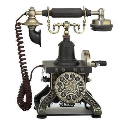 Functional Vintage Telephone Metal Decor
