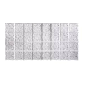 Traditional #10 2 ft. x 4 ft. Glue Up Vinyl Ceiling Tile in Matte White (40 sq. ft.)