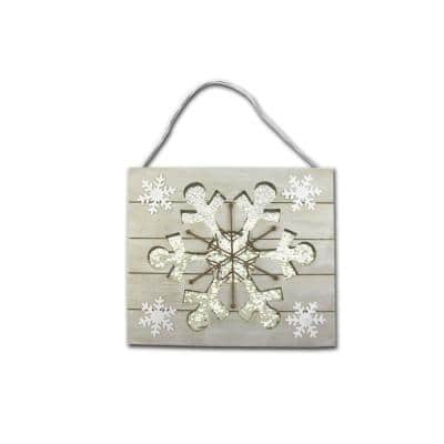 11.88 in. x 10.08 in. Snowflake Wall Plaque