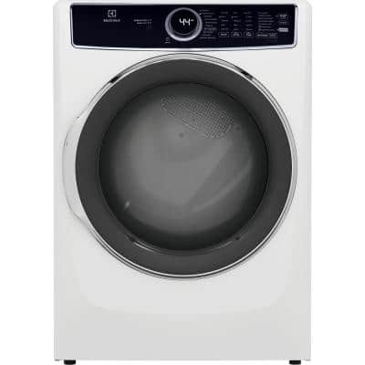 8 cu. ft. White Front Load Perfect Steam Gas Dryer with LuxCare Dry and Instant Refresh