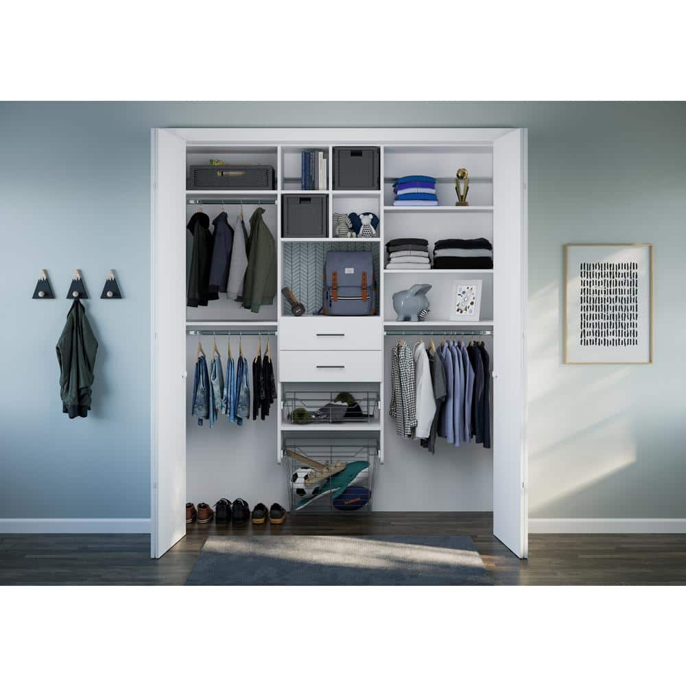 The Home Depot Installed Reach In Closet Organization System Hdinstlros The Home Depot